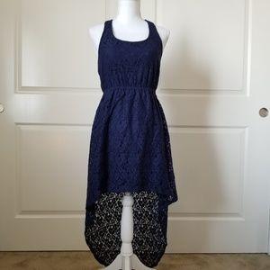 Xhilaration Womens Dress Size Small Blue Hi Lo